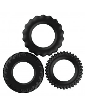 Набор из трёх черных эрекционных колец